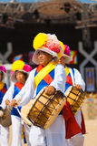 Old Man Traditional Korean Drums Festival Royalty Free Stock Photography