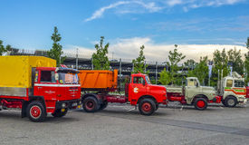 Old MAN trucks Stock Photos