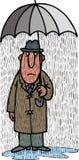 Old man and umbrella Royalty Free Stock Photo