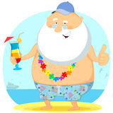 The old man on vacation Royalty Free Stock Photos