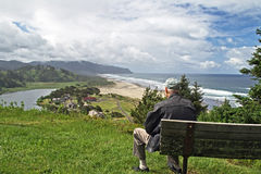 Old Man Views Cascade Head Stock Image