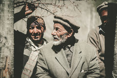Old Man in a village in the south of Skardu, Pakistan Royalty Free Stock Images