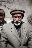 Old Man in a village in the south of Skardu, Pakistan Stock Photo