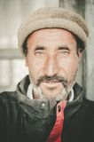 Old Man in a village in the south of Skardu, Pakistan Stock Photos