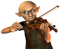 Old man with violin Royalty Free Stock Images