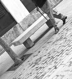 Old man walking cane Royalty Free Stock Photo