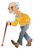 Old Man Walking, illlustration Royalty Free Stock Image