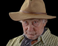 Old man in a felt hat Royalty Free Stock Image