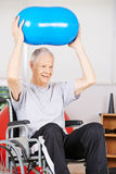 Old man in wheelchair in psychotherapy Royalty Free Stock Photography