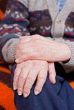 Old man whit holding hands Stock Images
