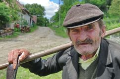 Free Old Man With A Scythe Stock Image - 108321251