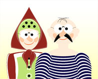 Old man and woman. Portrait of old man and woman Royalty Free Stock Image