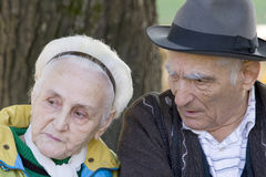 Old man and woman Royalty Free Stock Photos