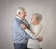 Old man and woman loving each other Royalty Free Stock Photography