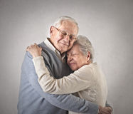 Old man and woman Royalty Free Stock Photo