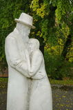 Old man and woman statue Stock Image