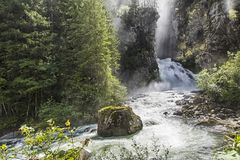 The old man of the woods and waterfalls on the Italian Alps Royalty Free Stock Photo