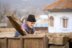 Old man at work royalty free stock images
