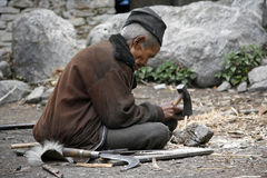 Old man working Royalty Free Stock Photos