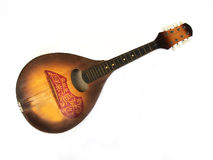 Old mandolina. Isolated over white Royalty Free Stock Photography