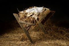 Old Manger with Soft Clothes Royalty Free Stock Images