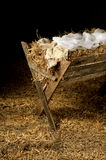 Old Manger with Swaddling Clothes Royalty Free Stock Image