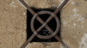 Old manhole Stock Photos