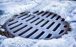 Old manhole royalty free stock photo