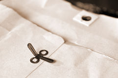 Old manilla envelope Royalty Free Stock Photo