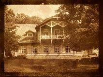 Old manor house. Old vintage photo of manor house Stock Images