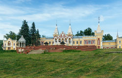 Old manor house in village. Central Russia Stock Photo