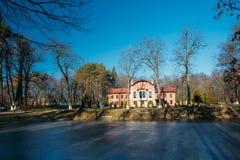 Old manor house in village Korenevka in Gomel region, Belarus Royalty Free Stock Images