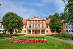 Old manor at Latvia. Stock Photo