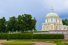 Old manor with a park. Baroque-style palace in the Orienbaum park Stock Photos