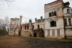 Old manor of the 19th century. PREILI, LATVIA - FEBRUARY 10, 2016: reconstruction of the old manor of the 19th century from red brick Royalty Free Stock Image