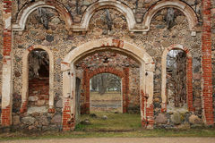 Old manor of the 19th century. Ruins of old manor of the 19th century from red brick Royalty Free Stock Image