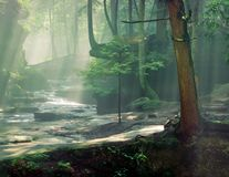 Old Mans Cave Gorge with Sunrays Royalty Free Stock Image