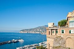 Old mansion on the amalfi coast Royalty Free Stock Photography