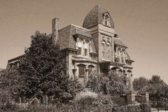 Old Mansion in Brush Park Given a New Lease on Life! Stock Photography