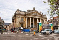 Old mansion with columns in Dresden in Germany Royalty Free Stock Photo