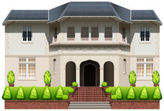 An old mansion. On a white background Stock Image