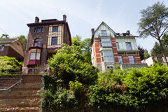 Old mansions in Liege Royalty Free Stock Photos