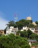 Hill and the Fort on top. Old mansions up on the hill and the Fort on top royalty free stock photography