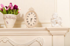 Old mantel clock Stock Photo