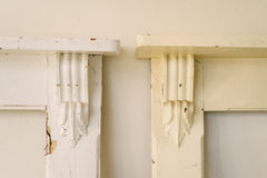 Old mantelpiece, ready to restore. Part of our ongoing renovation project Royalty Free Stock Photography