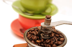 Old manual coffee grinder Royalty Free Stock Images