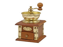 Old manual coffee grinder.Isolated. Stock Images