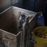 An old manual corn husker. Stock Photos