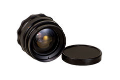 An old manual focus control camera lens Royalty Free Stock Images