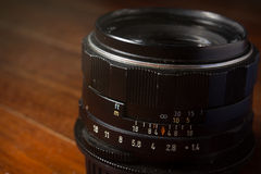 Old manual focus lens Stock Photography